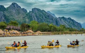 Каякинг в Ванг Вьенге