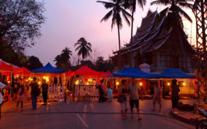 Ночной рынок в Луанг Прабанге