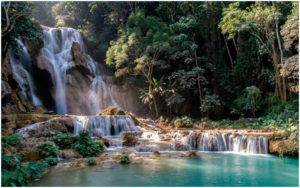 Водопад Куанг Си. Луанг Прабанг.