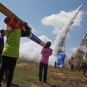 Фестиваль ракет в Лаосе